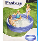 Inflatable Triple Ring Paddling Pool