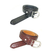 Leather Lined Belt Snake Skin Style