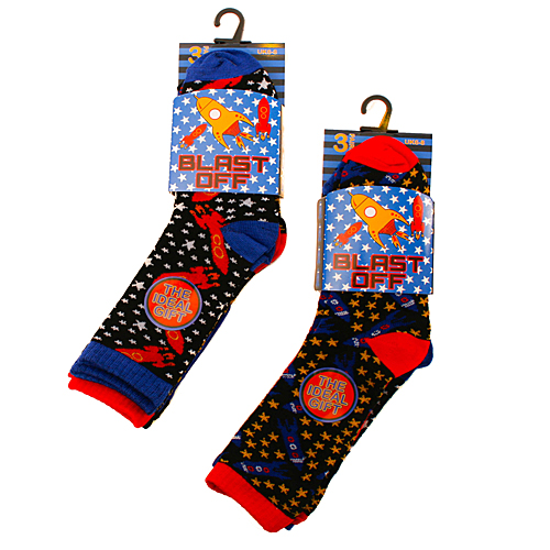 Rocket Novelty Computer Socks