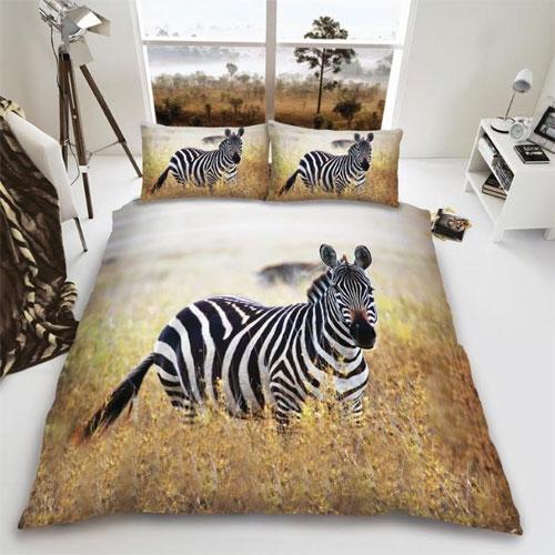 Zebra Field Reversible Duvet Set