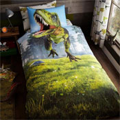 Childrens Dinosaur Panel Duvet Set