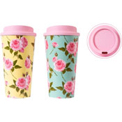 Floral Design Reusable Travel Cup