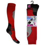 Ladies High Performance Ski Socks Checked