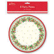 Christmas Party Plates Traditional
