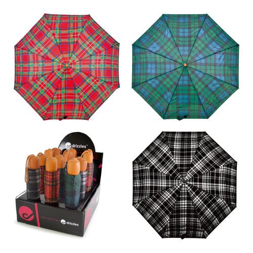 Drizzles Umbrellas Tartan