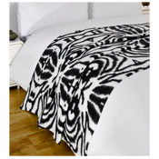 Snug and Cosy Fleece Blanket Zebra Design