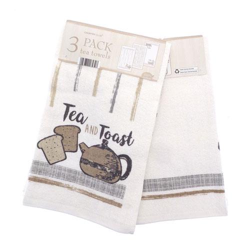 Tea & Coffee Tea Towels 3 Pack