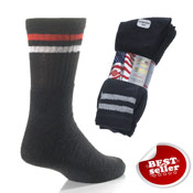 Black Stripe Sport Socks Washington 5 Pack
