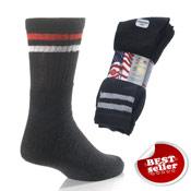 Black Stripe Sport Socks Washington 5 Pack