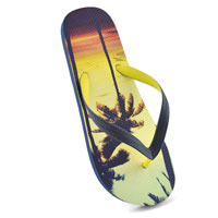 Mens Palm Tree Flip Flops