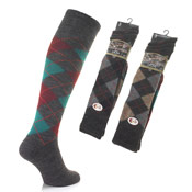 Mens Lambs Wool Blend Long Socks