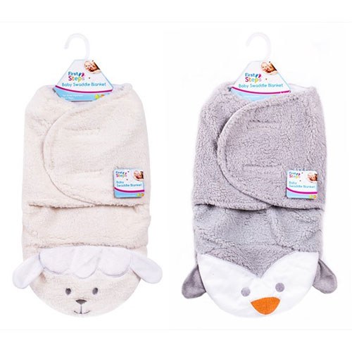 Baby Penguin/Sheep Design Swaddle Blanket