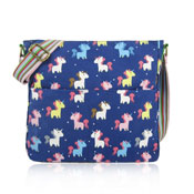 Unicorn Canvas Crossbody Bag Dark Blue
