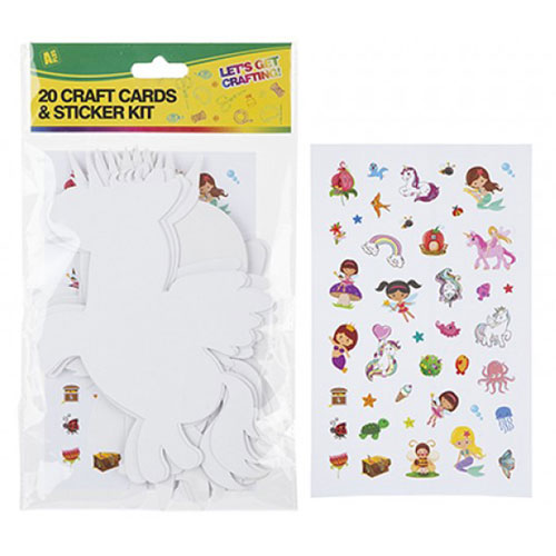 20 Piece Card Craft Cut Outs With Stickers