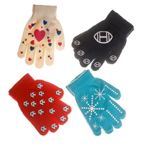 Novelty Kids Gripper Gloves