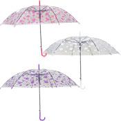 Spot Print Clear Umbrella