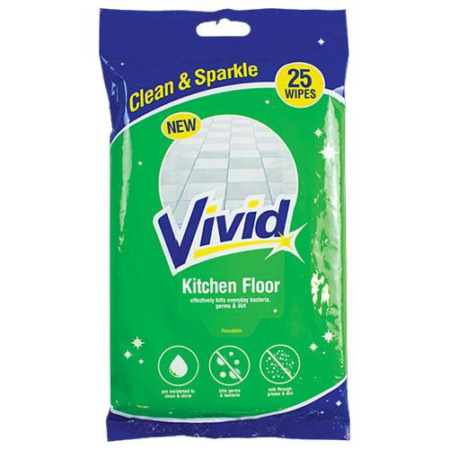 Kitchen Floor Wipes 25 Pack