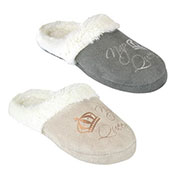 Ladies Nap Queen Soft Fleece Mule Slippers