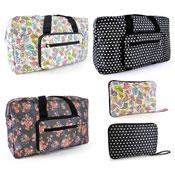 Floral Printed Folding Travel Bag