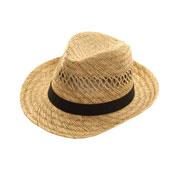 Mens Straw Fedora Hat