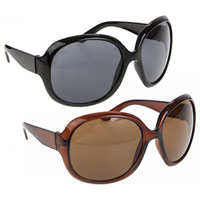 Sunstoppers Large Round Frame Sunglasses