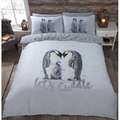 Penguins 'Let's Cuddle' Duvet Set