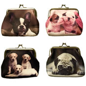 Ladies Coin Purse With Digital Dog Prints