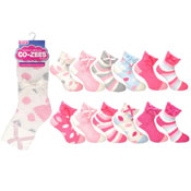 Ladies CoZee Slipper Socks Assorted Pastel