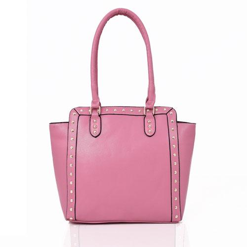 Luna Studded Wing Tote Bag Pink
