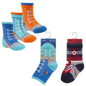 Childrens Mixed Designs Cotton Rich Socks