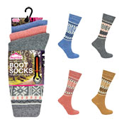Ladies ProHike Design Wool Blend Boot Sock Carton Price