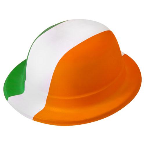 St Patrick's Day Irish Tri Colour Plastic Hat