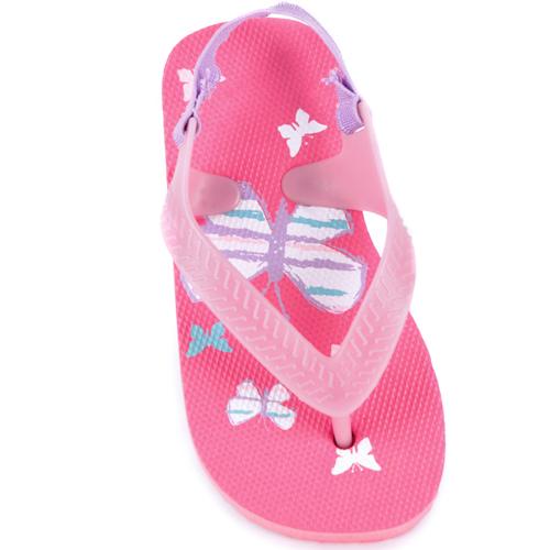 Toddler Butterfly Print Flip Flops