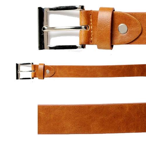 58% Leather Plain Square Buckle Belt BLACK ONLY