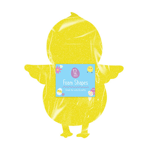 Easter Chick Foam Shapes 12 Pack