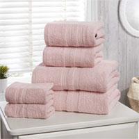 Natural Cotton Camden Hand Towels Pink