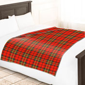 Fleece Blanket Checkered Tartan
