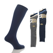 Mens 100% Long Cotton Socks