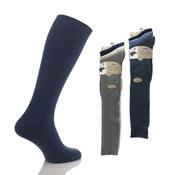 Mens 100% Long Cotton Socks