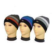 Boys Knitted Stripe Beanie Hat