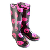 Ladies Smily Face Wellies PVC