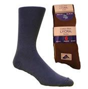 Lycra Socks 6 Pack Mens