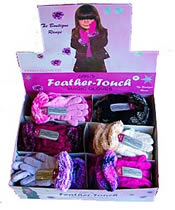 Kids Boxed Feather Glove with cuff