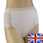Ladies Lace Panel Mama Briefs