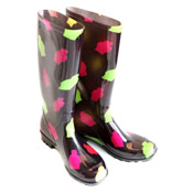 Ladies Fancy Patterned Wellies