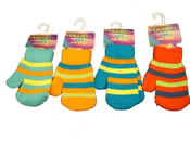 Kids Stripe Mittens