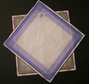 Mens Handkerchiefs Coloured Border