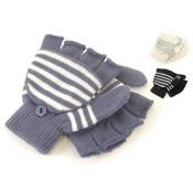 Childrens Fingerless Glove with Mitten Cap