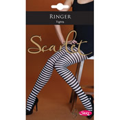 Ringer Tights Scarlet by Silky