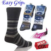 Mens Easy Grip Non-Elastic Socks Stripe